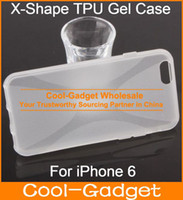 Wholesale Flex Anti Slip X Shape X Shape Silicone Rubber TPU Gel Case Cover for iPhone G Plus iPhone6 IP6C01