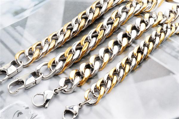 2014 Moda plata 18 oro joyería del brazalete pulsera de cadena de eslabones de la cola