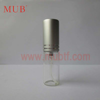 Wholesale ml Glass Spray Perfume Bottle Cosmetic Glass Bottle Matter Aluminum Cap And Pump