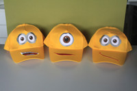 Wholesale 3 styles Despicable me Minions plush baseball hat minions hat Retail