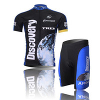 Wholesale Cool Discovery TREK Cycling Jersey Set Short Jacket Bib Pants High Quality Men s Quick Dry Bicycle Cycling Jersey Sets