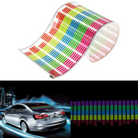 Wholesale Colourful Flash Car Sticker Music Rhythm LED Light Lamp Sound Activated Equalizer cm x cm DHL