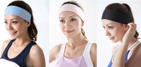 Wholesale 20pcs Best for yoga sports colors can be mix Polyester women elastic headbands hair accessories xth235