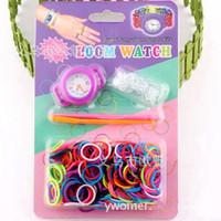 al por mayor relojes telar redondo-Venta al por mayor-Nuevos relojes coloridos hechos a mano del telar del reloj del telar estupendo del telar estupendo de DIY de los kits de las vendas de goma de las ventas al por mayor largos redondos Paquete al por menor de DHL
