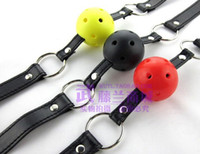 Cheap sex product sex toy bondage gear Soft Ball Gag with Lock(red) GA32 01
