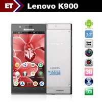Dual Core Android 35Phone Lenovo K900 5.5 inch smartphone QHD intel Z2580 2.0GHz 1920x1080 Android 4.2 2GB RAM 16GB 13.0MP Camera Bluetooth