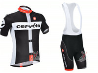 Wholesale Castelli Cervelo Cycling Jersey Sets Mens Road Bike Jersey and Bib Bicycle Short Castelli Rock Racing Bike Clothes