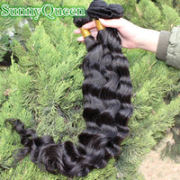 Wholesale Sunny Queen hair products Brazilian virgin hair loose wave hair extensions or mix natural color hair weaves