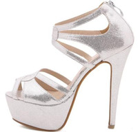 Wholesale Sexy Dress Shoes High Heel cm Silver Color New Arrival prs S6