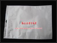 al por mayor bolsa de envases al por menor de la cremallera-Bolso al por menor plástico de la cremallera blanca de los 35x25cm Empaquetado suave del embalaje del paquete para el aire de Ipad 2 3 4 5 piel de cuero de la caja de la bolsa de la tableta de la PC 100pcs