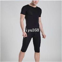Wholesale 1 set mens pajamas underwear sexy fastoin sleepwear see through Manview yoga pants underwear tshirt shirts sheer shorts man