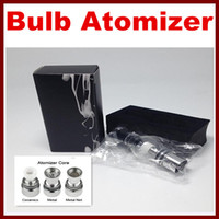 Cheap Bulb Atomizer eGo Clearomizer Globe Glass Pyrex Glass + 1 core for eGo t Battery E Cigarettes E Cig Clear Cartomizer Dry Herb Wax Vaporizer