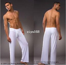 Wholesale 1pcs leisure sexy sleepwear for men bathing mens sleep bottoms Manview yoga long pants panties underwear pants robe