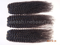 Brazilian Hair brazilian hair bulk - 100 Brazilian Virgin bulk Hair Weave Afro curl TOP QUALITY quot quot DHL in stock