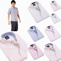 Wholesale Trendy Men Business Casual Short Shirts Oxford Short Sleeve Thin Shirts DNJF