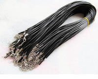 best wire rope - Best Price Black Wax Leather Snake Necklace Beading Cord String Rope Wire cm Extender Chain with Lobster Clasp DIY jewelry components