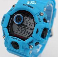 Wholesale 100 new blue Shock GW sports electronic GW9400 Children Candy Men women Sport Digital LED SHOCKS Cartoon Jelly Wrist Watches g