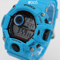Wholesale 2015 new blue Shock GW sports electronic GW9400 Children Candy Men women Sport Digital LED SHOCKS Cartoon Jelly Wrist Watches g