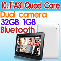 Wholesale 10 inch Quad Core A31S HDMI Android Bluetooth Tablet PC GB GB Ghz Wifi Dual Web Camera Inch tablet android Brand new in stock