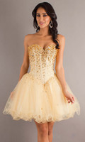 Cheap 2014 Graduation Dresses Sweetheart Corset Back Mini Short Ruffles Skirt Crystal Sexy Cocktail Dresses Short Prom Party Dresses
