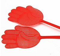 Wholesale Summer outdoor palm colored plastic fly swatter mosquito nets shot beat pest g