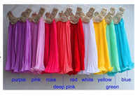 Wholesale Korean Style Children Suspender Dresses Girls Sequin Vest Dress Kid Solid Cloth Girl Chiffon Dressy Kids Paillette Lapel Clothes I0515