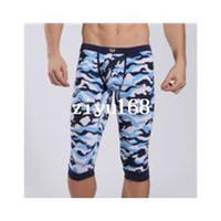 Shorts camo pants for men - 1pcs WJ Brand camo new underwear boxer brief for men sexy sports wear shorts beach pants baseball surf brand running longer