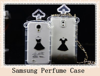 For Samsung Plastic  Luxury black dress Perfume TPU Chain Handbag perfume bottle Case Cover For Samsung S4 S3 note2 note3 N7100 N9000 2 style