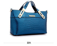 Wholesale 2014 new patent leather embossed crocodile pattern handbag bag woman women handbags