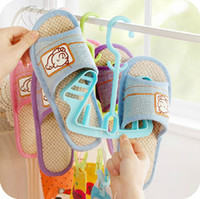 Wholesale Korean version of the candy colored sun shoe hanging shoe rack multifunction movable outdoor portable hanger with clip