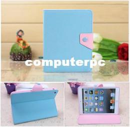 Wholesale Fresco Azul Rosa Magnético de Cuero Folio Stand de Smart Cover funda para iPad Mini