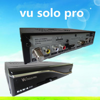 Wholesale 1pcs VU SOLO PRO VU SOLO PRO DVB S2 Linux Enigma2 HD Satellite Receiver support Black hole and OPENPLi