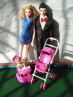 Wholesale A three pregnant Babi Ken doll stroller and walker Carey Pregnant Barbie Doll Gift Set