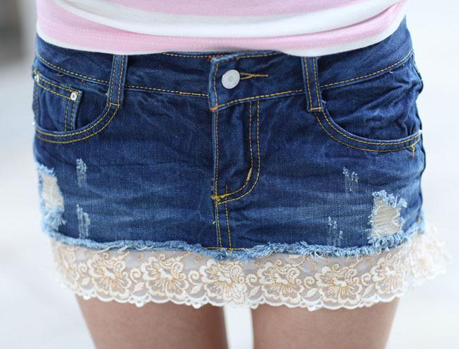 Denim Short Skirt