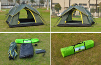 Wholesale of outdoor automatic tent ultra light three people open a big tent camping tents more than double