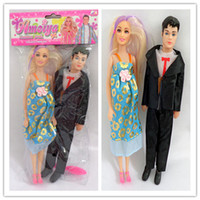 Wholesale The new Barbie couple first card bags with male son pregnant girl dolls Toy Value Pack