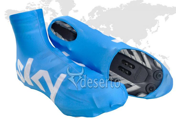 Cycling overshoes 2014 sky pro team blue bicycle shoe covers mountain
