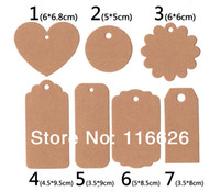 Wholesale 350GSM Vintage Kraft Paper Tags Blank gift cards w multi models to DIY Wedding Gift Scrapbook Photo Album