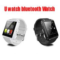 Wholesale Hot U Watch U8 Bluetooth Watch Wrist bracelet Bangle Speaker Phone Call Remote take photos theftproof Smart Watch For iPhone S note S5