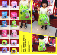 Wholesale 1404L new frozen peppa pig DOC MSCTUFFINS waterproof nylon drawstring bags Drawstring bags hjh
