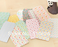 Wholesale Vertical style Mini Cute Floral paper envelopes for message of gift cards size x6 cm