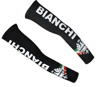 arm sleeves - 2014 bianchi black arm warmers Bicycle pro team arm cover sleeve cycling arm sleeve