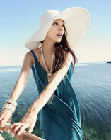 Wholesale Fashion Women s Ladies Foldable Wide Large Brim Floppy Summer Beach Hat Sun Straw Hat