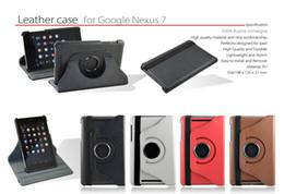 Pour Google Nexus 7 1st Gen 2012 Version 360 Rotation Stand étui en cuir couverture nexus rotating leather case deals à partir de nexus rotation étui en cuir fournisseurs