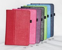 """Protective Shell/Skin 7'' For Apple 1pcs lot free shipping High Quality Lychee Style PU Leather Case Cover for Nook HD 9"""" Tablet Stand Case"""