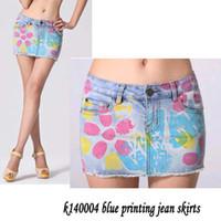 2015 nuevas de la llegada mujeres de talla grande atractivo de las faldas cortas faldas Jean impresión cremallera Denim Saias Maxi envío gratuito Jupe