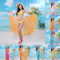 Wholesale 2014 New woman Chiffon beach dress swimsuit bath towel foulard summer Prevent bask in shawls printing towel wrapped in sexy bikini STD008