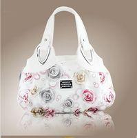 Totes Women Floral New 2014 Fashion Korean handbag beautiful Women PU leather Bag Tote Bag Printing