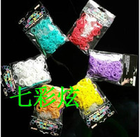 Charm Bracelets Europe and America Women's 8%off!Jewelry sales!hot sale!Hot DIY Rainbow Loom glow in the dark Refill Bands Bracelet (600pcs bands+24pcs S clips)bracelets.DROP SHIPPING