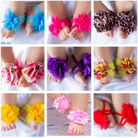 baby toe socks - 10pairs Top baby Barefoot Socks Sandals Shoes Flowers Feet Toes Baby Blooms FOOT WRAPS FLOWER FEET Color